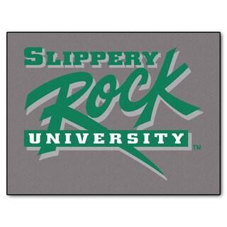 Machine-Made Slippery Rock University Grey Nylon Allstar Rug (2'8 x 3'8)