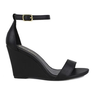 Mark and Maddux Women's Elisha-13 Ankle Strap Wedge Sandal