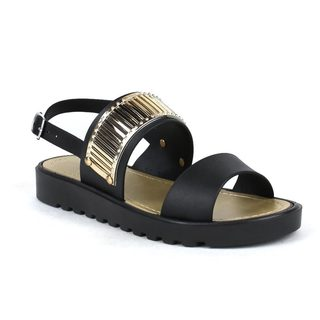 Fahrenheit Women's Susie-02 Gold Detailed Sandal