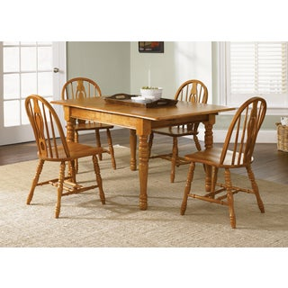 Country Haven Traditional Spice Butterfly Leaf Dinette Table