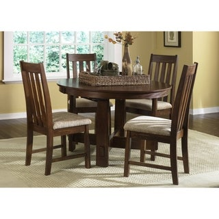 Mission Dark Oak 5 Piece Dinette Set
