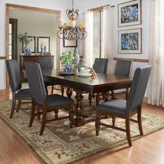 Flatiron Baluster Extending Dining Set By INSPIRE Q Classic 4 Options Available