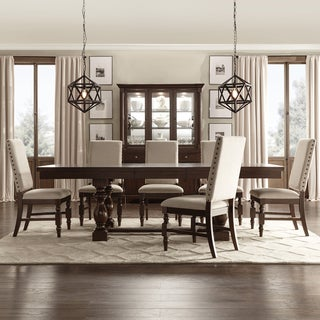 tribecca home flatiron baluster extending dining set