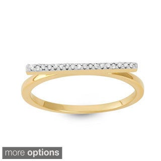 Sterling Silver Diamond Accent Stackable Bar Ring