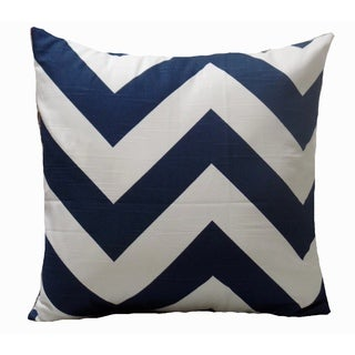 Navy Blue Large Chevron Pillow Cover