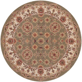 Shapes Green/ Ivory Area Rug (7'9 Round)