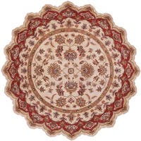 Shapes Ivory/ Red Area Rug - 7'9