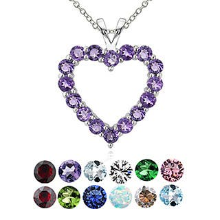 Glitzy Rocks Sterling Silver Birthstone Open Heart Necklace https://ak1.ostkcdn.com/images/products/10045939/P17190804.jpg?impolicy=medium