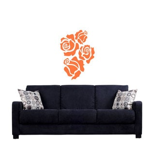 Roses Flowers Sticker Vinyl Wall Art