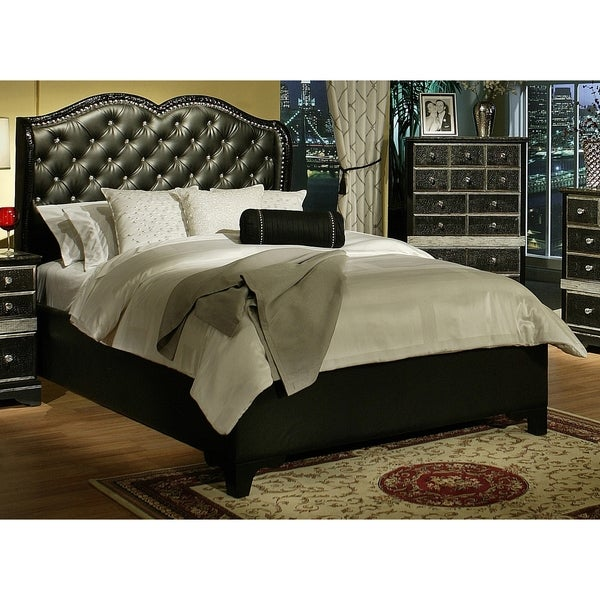 Shop Sandberg Furniture Hollywood Glamour Queen Chase Bed