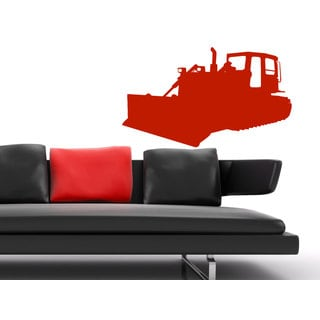 Bulldozer Sticker Vinyl Wall Art