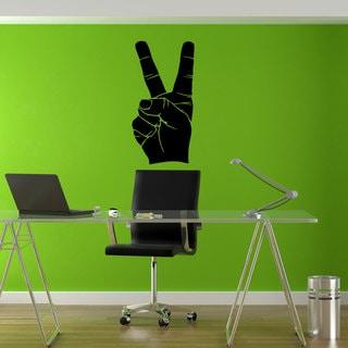 Fingers Peace Sign Sticker Vinyl Wall Art