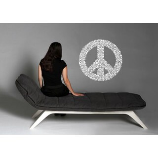 Flower Peace Sign Sticker Vinyl Wall Art