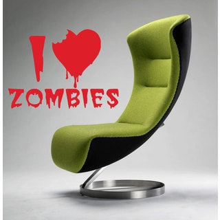 I Love Zombies Sticker Vinyl Wall Art