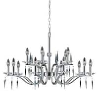 Lumenno Silouette Collection 15-light Satin Nickel Chandelier - Satin Nickel