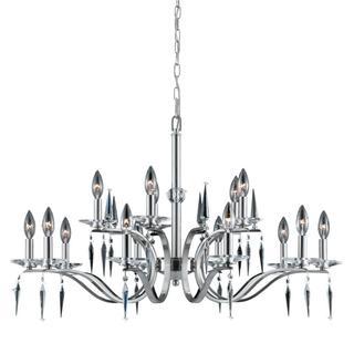 Lumenno Silouette Collection 15-light Satin Nickel Chandelier