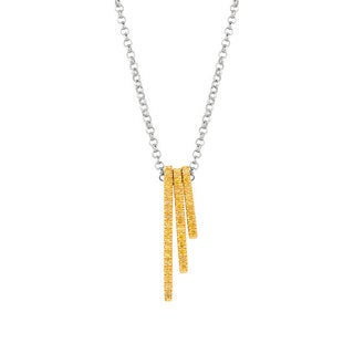 Sterling Silver Yellow Diamond Accent Stackable Bar Necklace