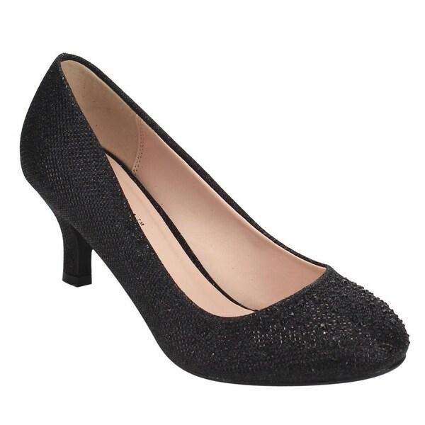 e8ac34de5 Shop BONNIBEL WONDA-1 Women's Glitter Slip-on Dress Pumps Half Size ...