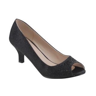 Bonnibel Wonda-2 Women's Low Heel Glitter Slip-on Dress Pumps