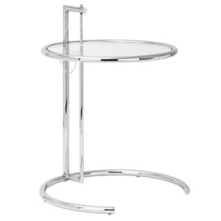 Poly and Bark Chrome Accent Table (Set of 2)