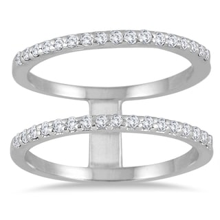 Marquee Jewels 10K White Gold 3 8ct Diamond Double Row Ring