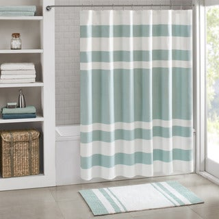 Madison Park Spa Waffle Shower Curtain with 3M Treatment - Thumbnail 0