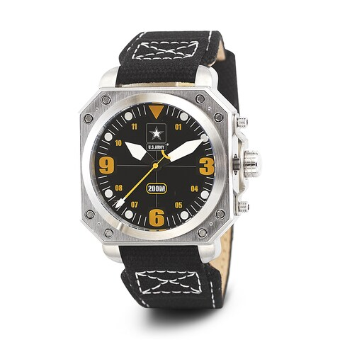 Wrist Armor Men's WA255 U.S. Army C4 Black Dial Yellow Accent Watch