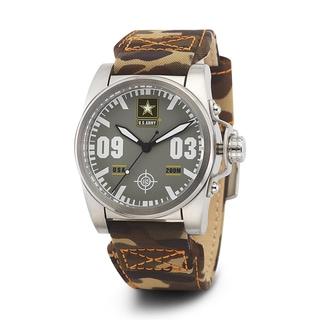 Wrist Armor Men's WA214 U.S. Army C1 Brown Camo Strap Watch
