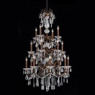 Lumenno Vienna Collection 18-light Bronze with Gold and Silver Wash Entry Chandelier