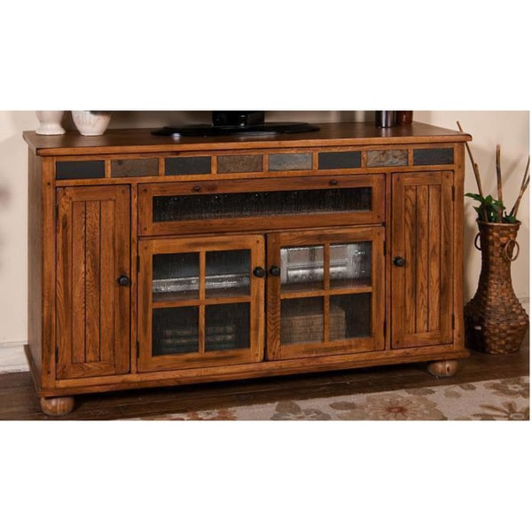Shop Sunny Designs Sedona Counter Height Tv Console Free Shipping