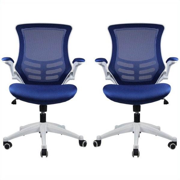 Manhattan Comfort Lenox Mesh Adjustable Office Chair Set of 2