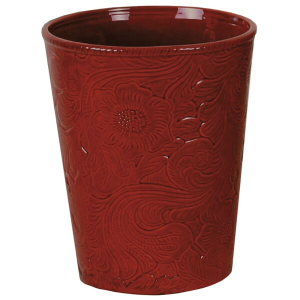 HiEnd Accents Savannah Red Waste Basket