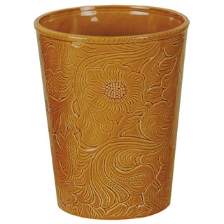 HiEnd Accents Savannah Mustard Waste Basket