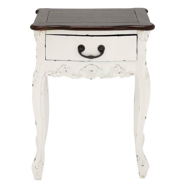 Shop Rustic Romance Petite 24 Inch White Mahogany Wood