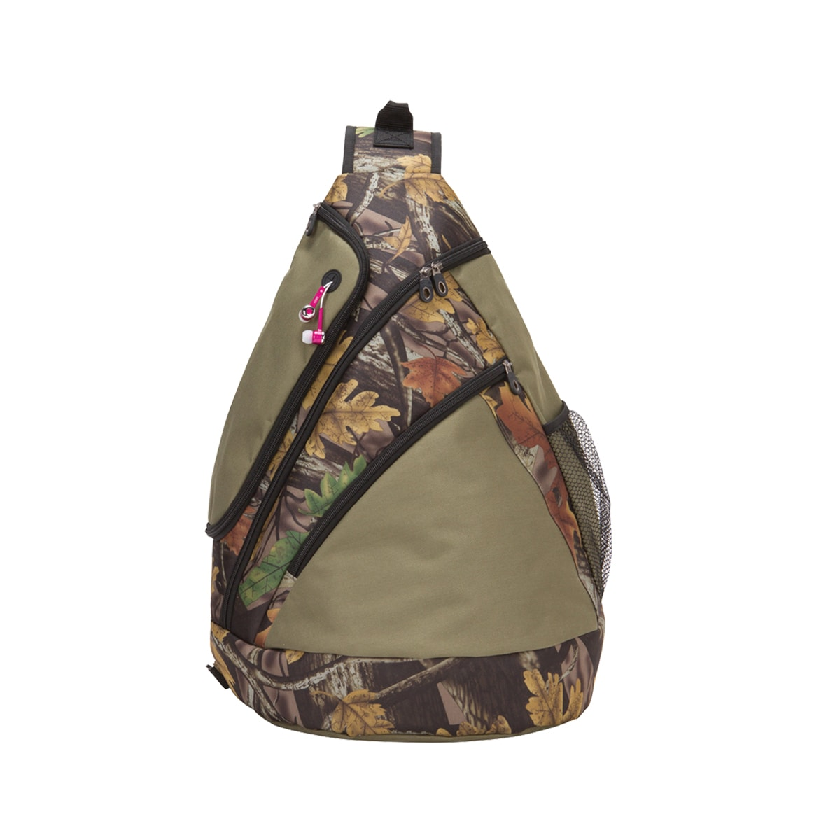 GOOD HOPE BAGS Camo Sling Tablet Backpack (Camo), Green, ...
