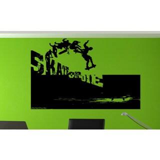 Green Skateboarding Skate Or Die Sticker Vinyl Wall Art