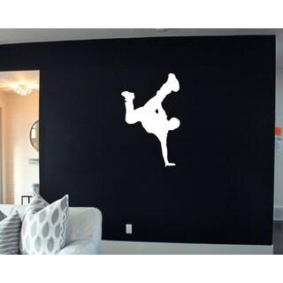 White Break Dance Sticker Vinyl Wall Art