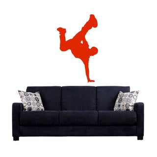 Red Break Dance Sticker Vinyl Wall Art
