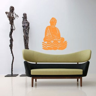 Sitting Buddha Lotus Flower Sticker Vinyl Wall Art