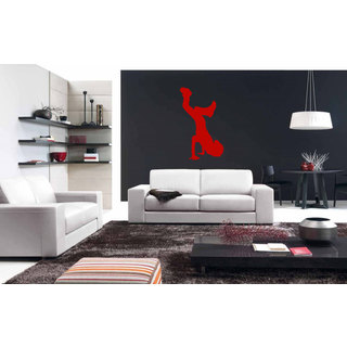 Break Dance Red Sticker Vinyl Wall Art