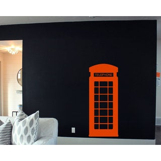 Phone Booth London England Sticker Vinyl Wall Art