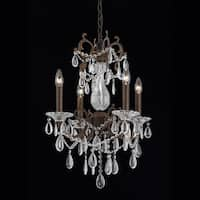 Lumenno Vienna Collection 4-light Bronze with Gold and Silver Wash Mini Chandelier