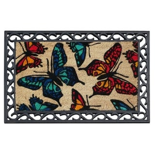 """First Impression Butterflies Coco Rubber Tray Mat (24"""" x 36"""")"""