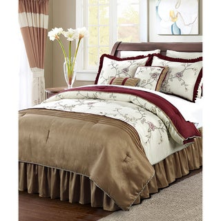 Serenta Terrace Embroidered 12-piece Comforter Set
