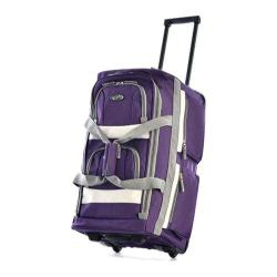 Sports Plus Dark Lavender 26-inch 8-Pocket Rolling Duffel Bag