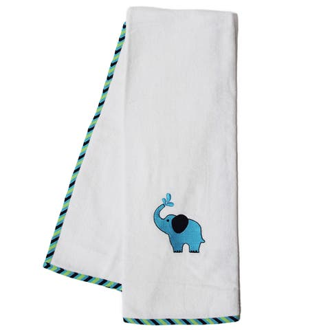 Pam Grace Creations Zigzag Elephant Cotton Bath Towels (Set of 2)