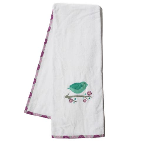 Pam Grace Creations Lovebirds Cotton Bath Towels (Set of 2)