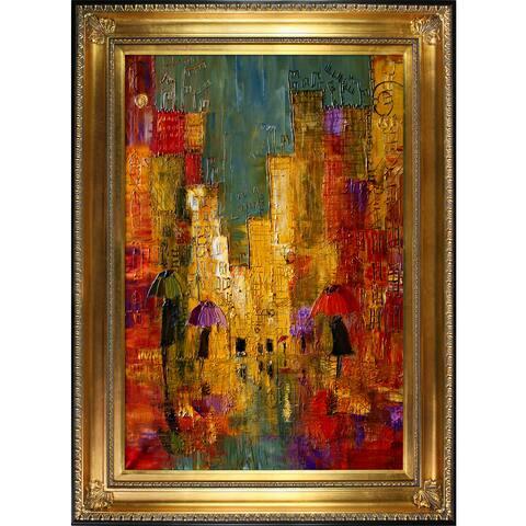 Justyna Kopania 'Street' Framed Fine Art Print - Gold