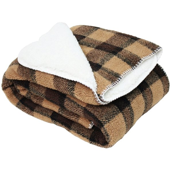 J and M Home Fashions Jacquard Sherpa Fleece Throw