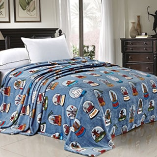 BOON Printed Cities Flannel Fleece Blanket